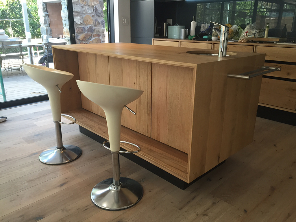 Wooden Table for Breakfast Area with sink