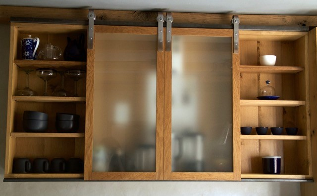 Display Cabinet with sliding glass doors