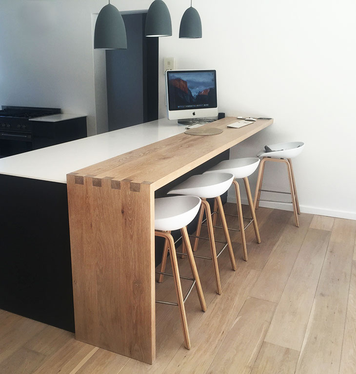 Breakfast and workspace desk custom build