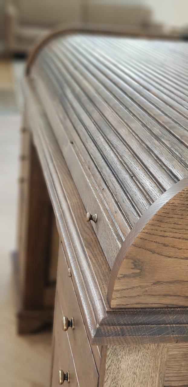 Custom Made Wooden Roll Top Desk